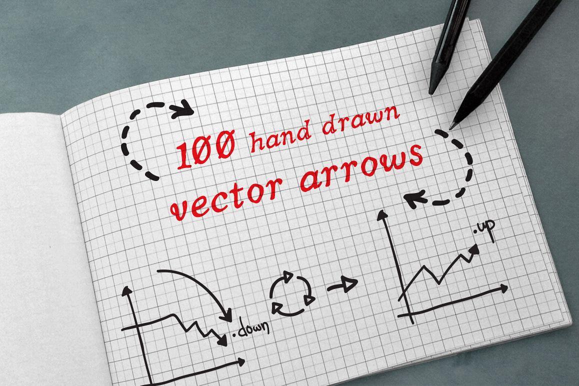 100 Hand Drawn Vector Arrows example image 1