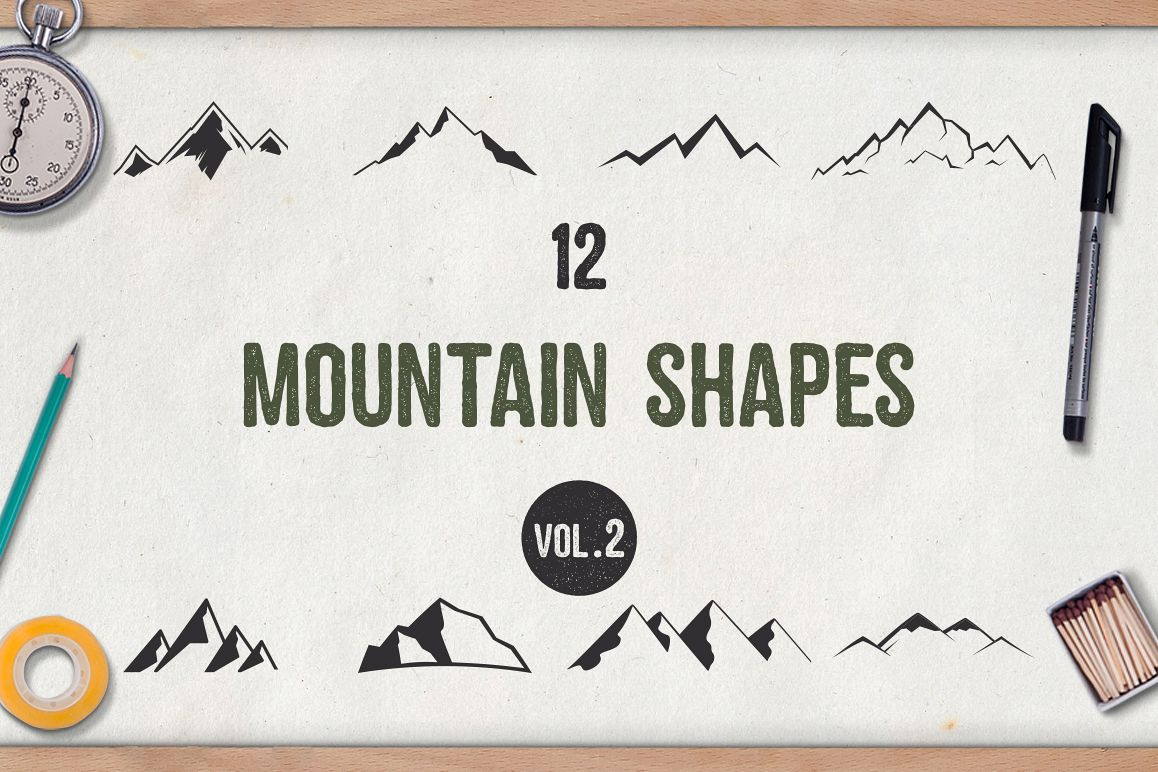 Mountain Shapes Vol.2 example image 1