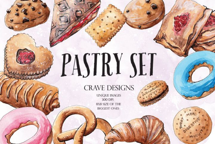 Pastry Set Clip Art example image 1