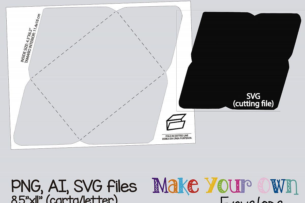 Envelope Template, collage sheet templa | Design Bundles