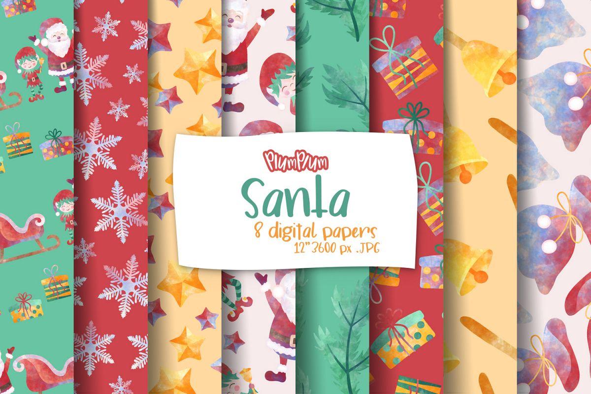 Santa Digital Papers example image 1