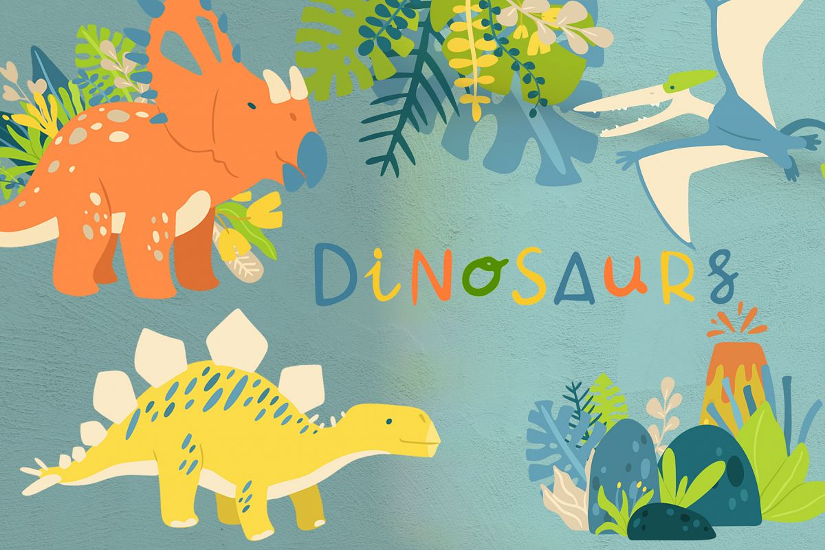 Cute Dinosaurs example image 1