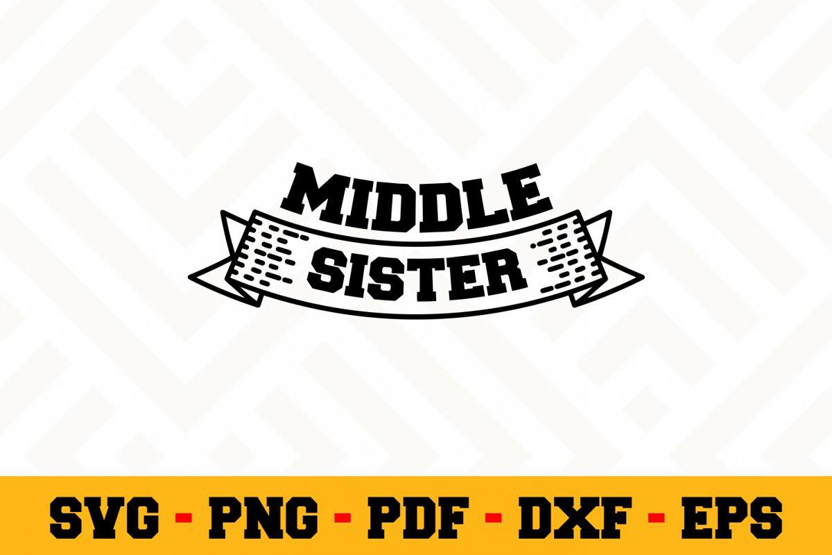 Sister SVG Design n518   Sister SVG Cut File example image 1