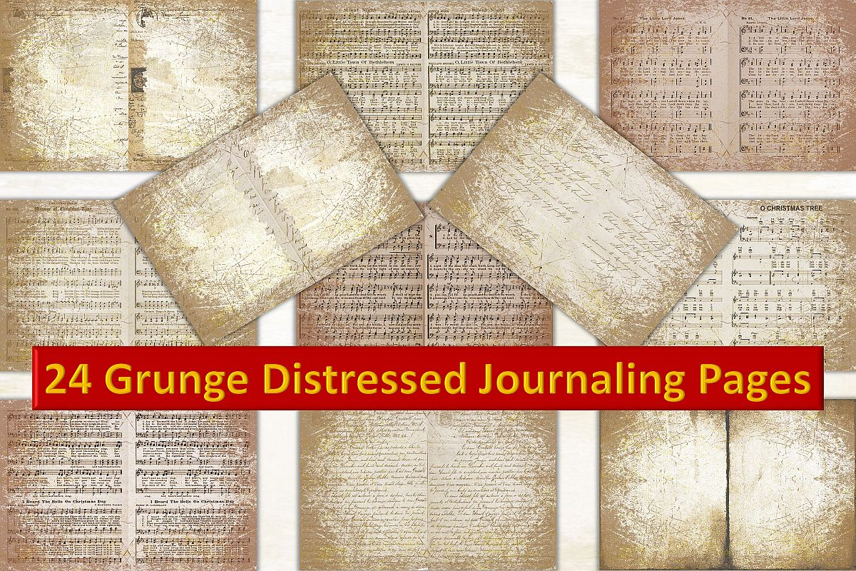Grunge Backgrounds 24 pages A4 Letter size JPEG CU example image 1