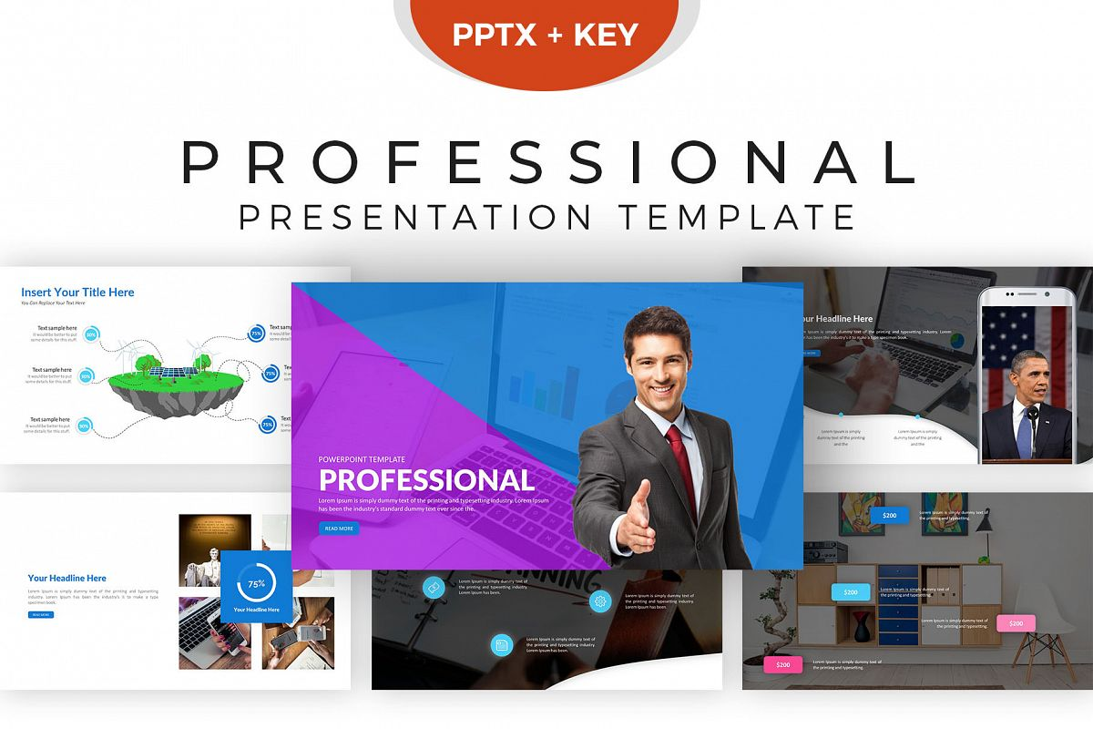 professional presentation template