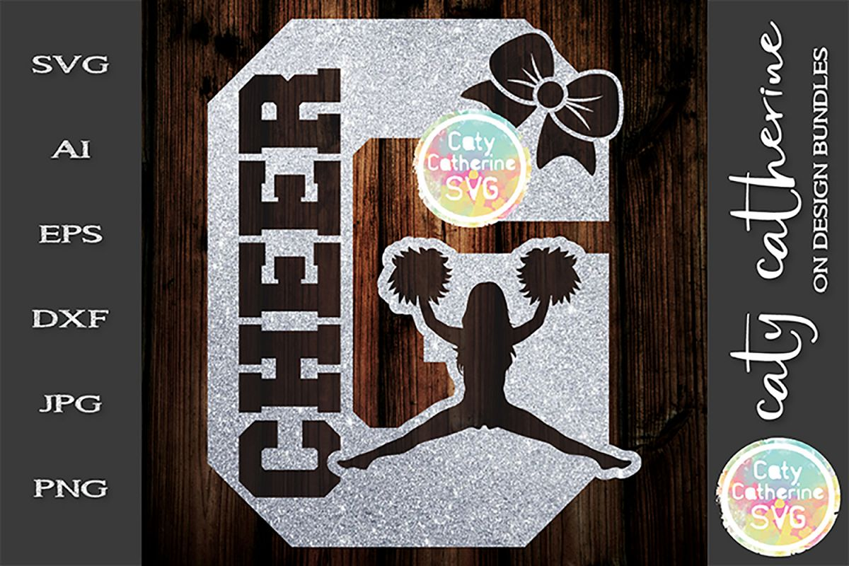 Letter G Cheerleading Monogram Letters SVG Cut File example image 1