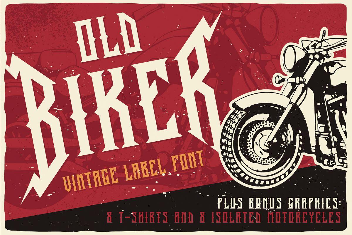 Old Biker Label Font plus Bonus example image 1