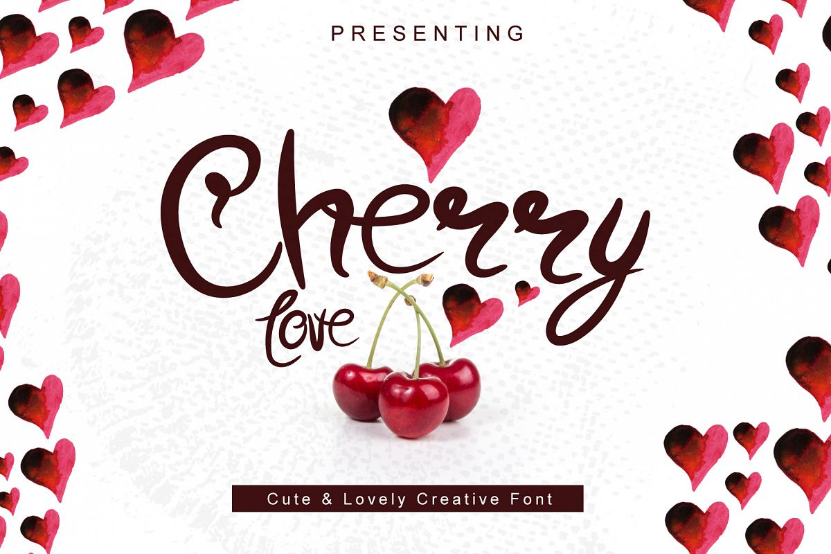Cherry Love - A Cute Hand Drawn Font example image 1
