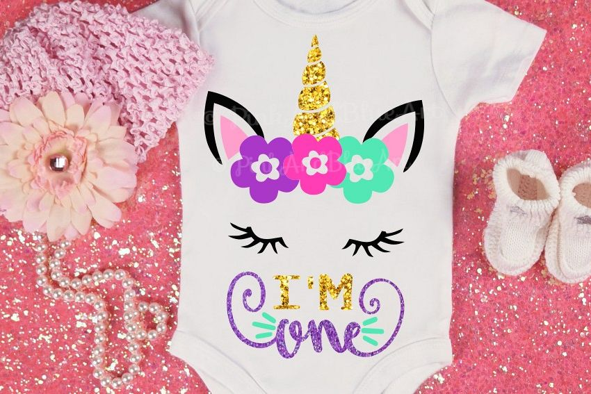 e2c4468a0 First Birthday SVG - 1st svg - Baby svg - Unicorn svg - ONE svg ...