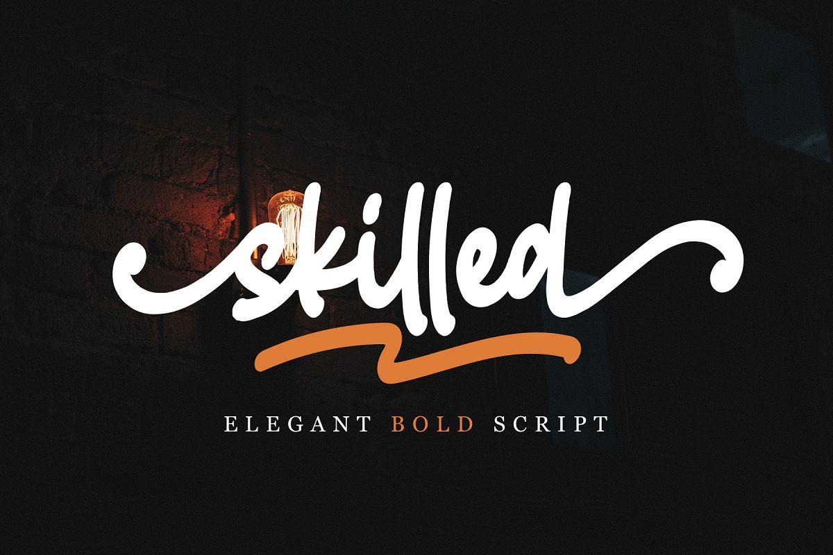 Skilled | Elegant Fonts example image 1