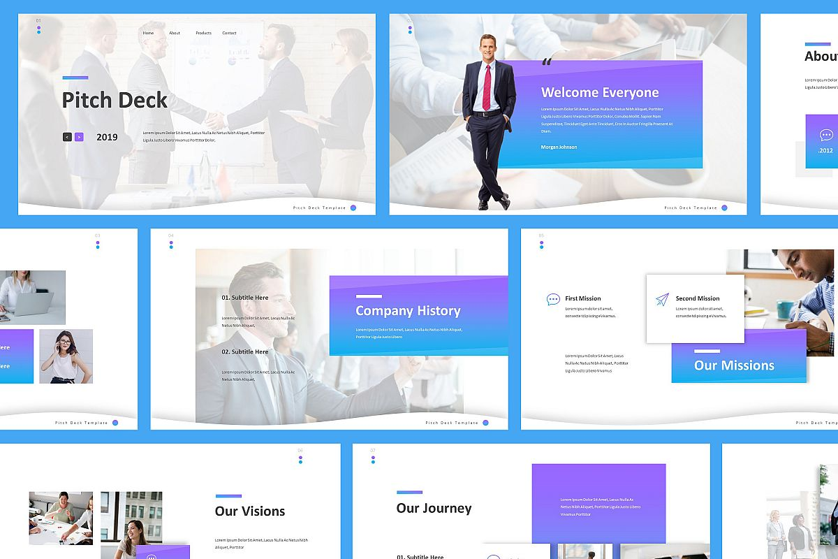 Pitch Deck Powerpoint Template example image 1