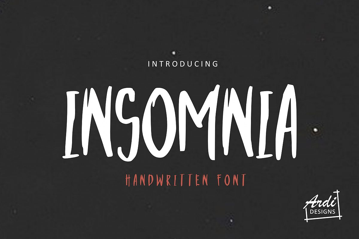 Insomnia Font example image 1
