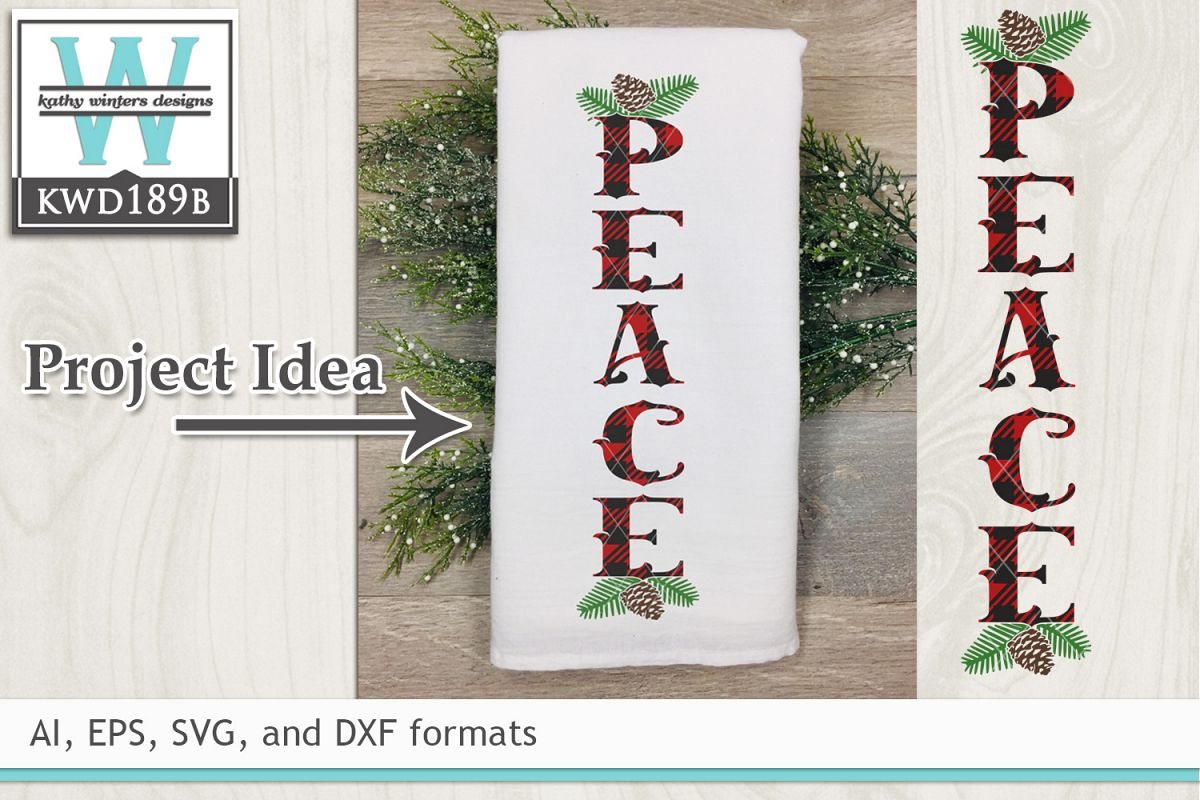 Christmas SVG - Peace example image 1