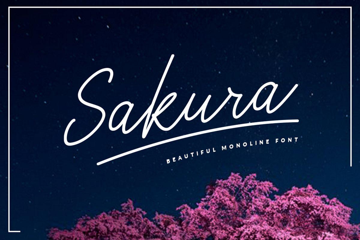 Sakura Font Set example image 1