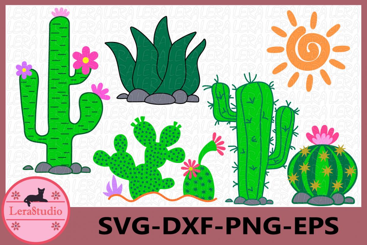 Cactus SVG, Cactus clip art, Digital Cutting Files, Summer example image 1