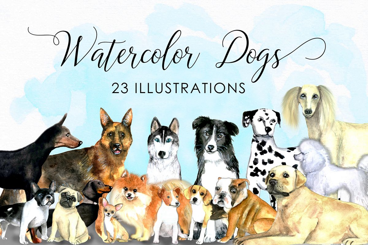 Watercolor dogs - Watercolor pets example image 1