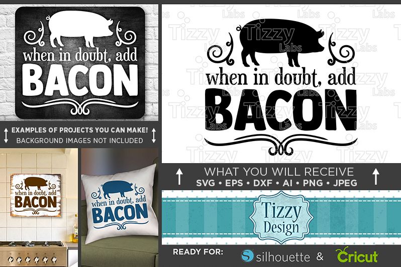 When In Doubt Add Bacon SVG File - Farm House Decor - Pig Svg ... Country Farmhouse Svg Designs on farm house designs, country estate designs, country farm house, country shabby chic designs, country garage designs,