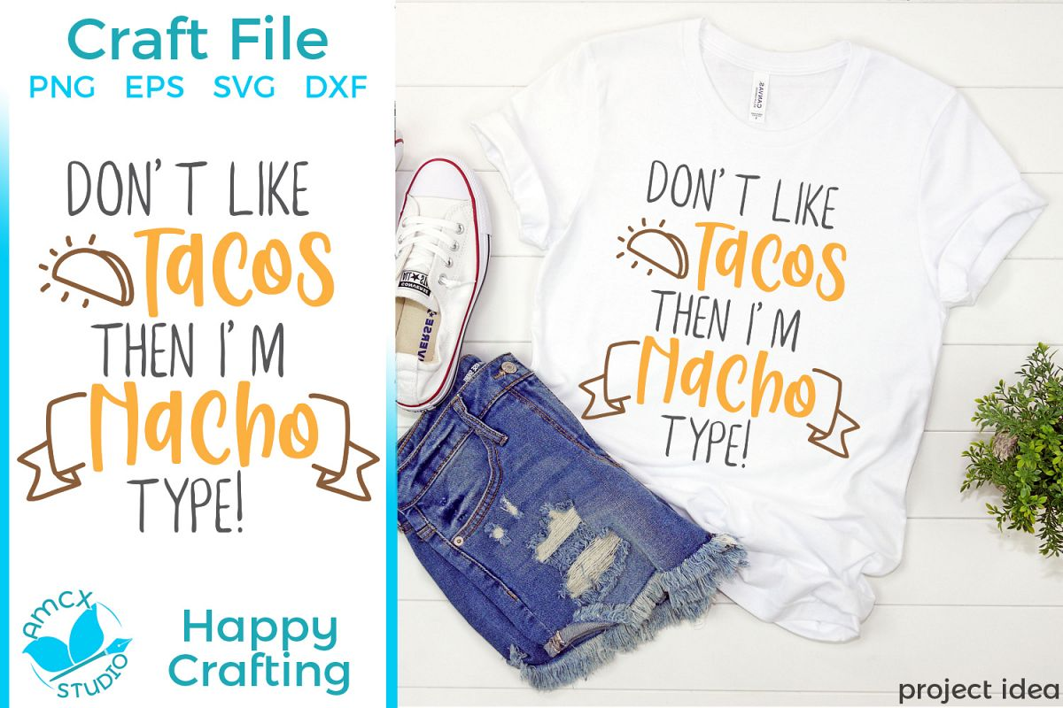 Nacho Type - A Food Lovers SVG File example image 1