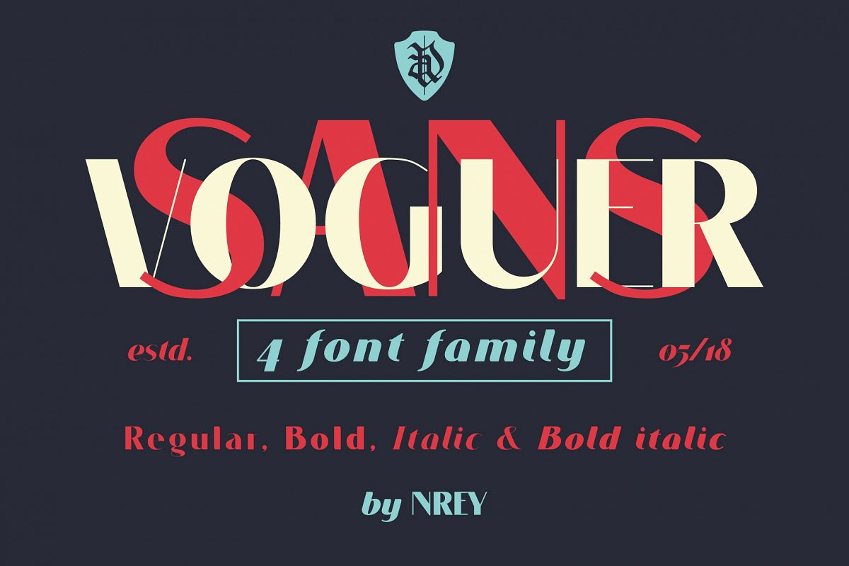 VOGUER Sans family example image 1