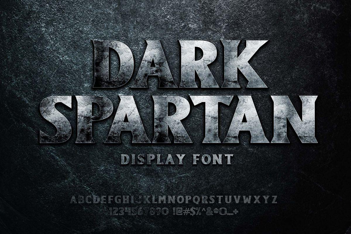 Dark Spartan Display Font example image 1