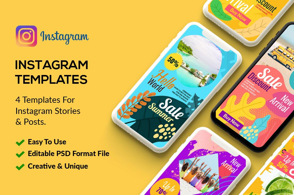 4 Instagram Stories - Sale Offer example image 1