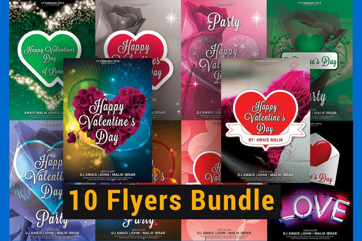 Valentines Day Flyer Bundle example image 1