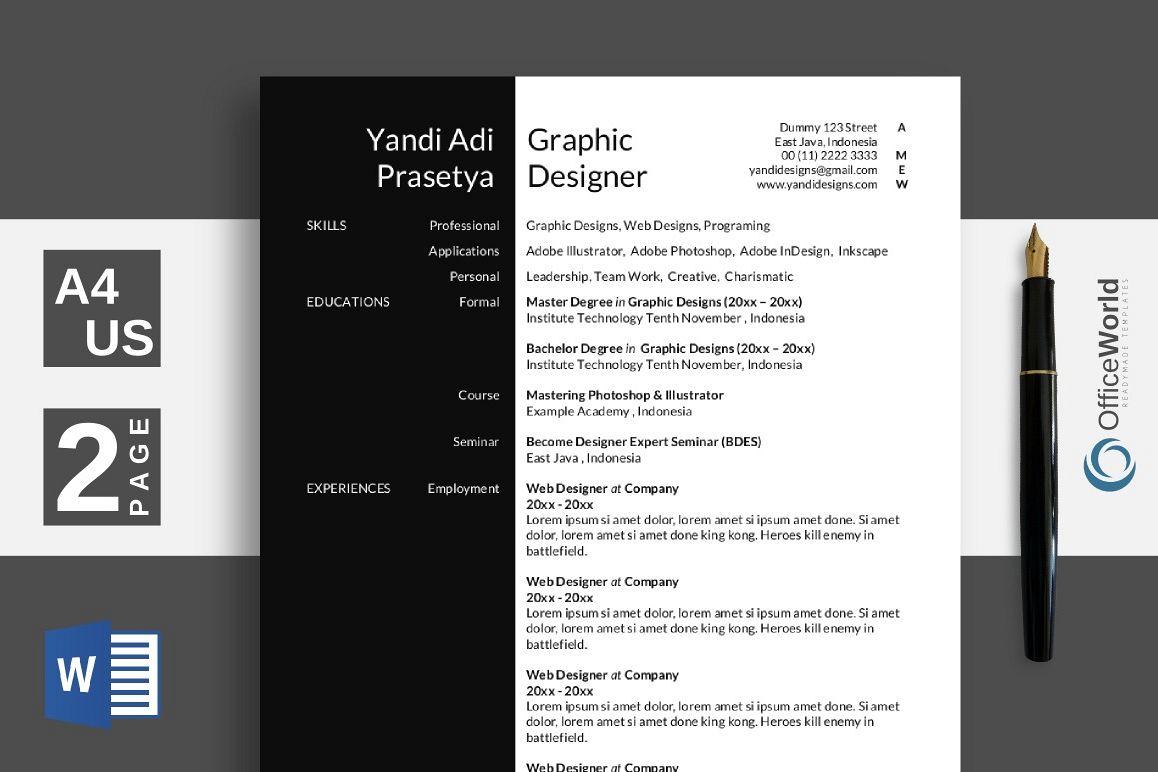 black white elegant resume    cv