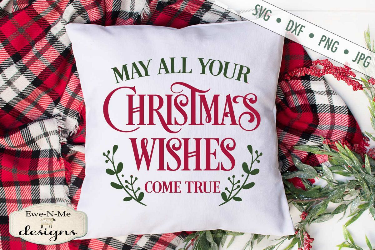 Christmas Wishes - Holiday - SVG DXF Files example image 1