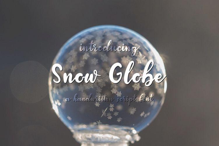 Snow Globe | A Handwritten Script Font example image 1