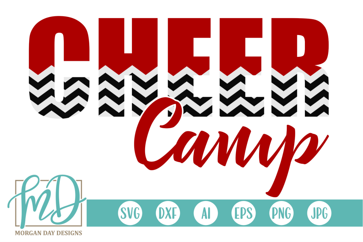 Cheer Camp - Cheerleader SVG, DXF, AI, EPS, PNG, JPEG example image 1