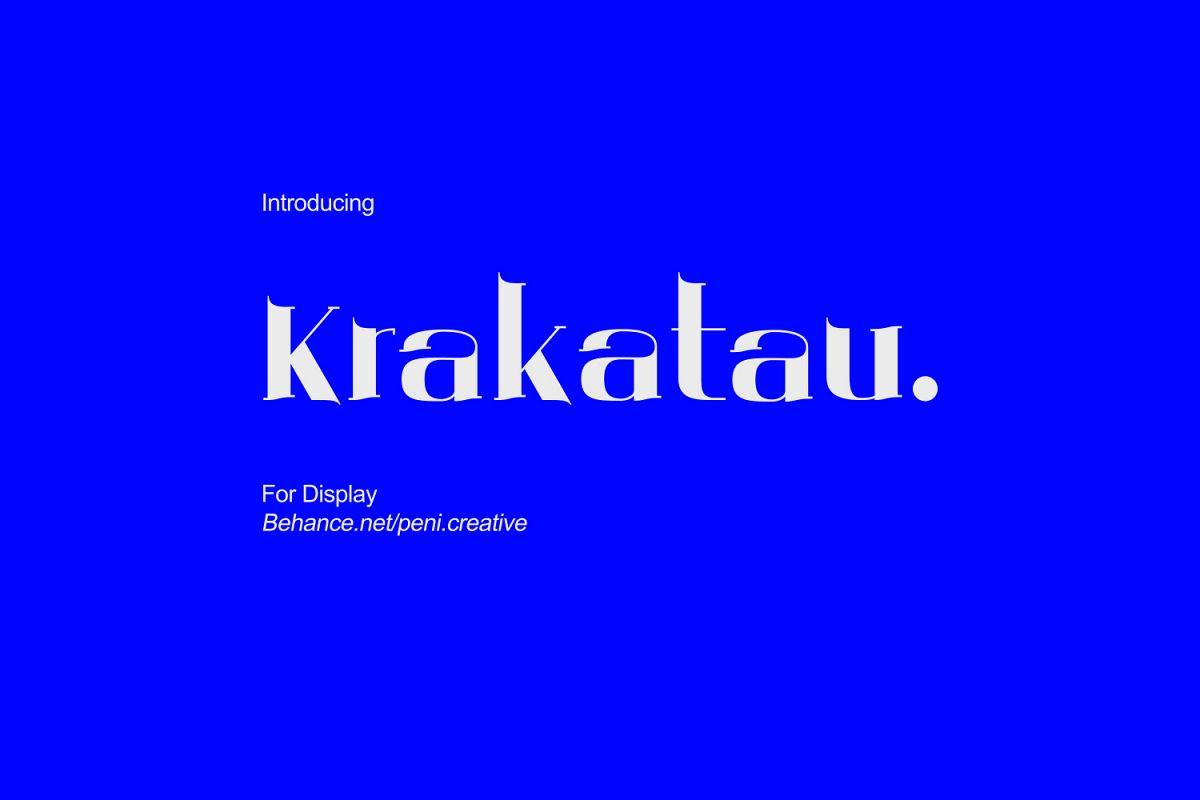 Krakatau - Display Font example image 1