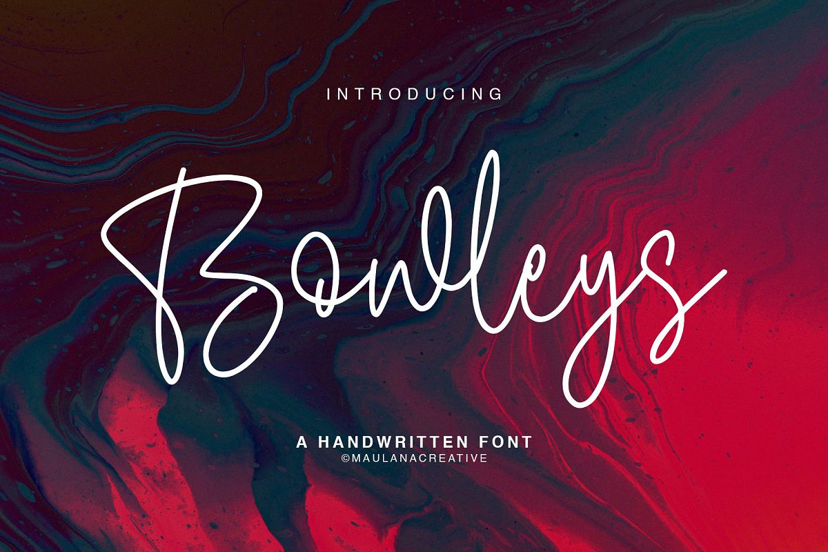 Bowleys Typeface example image 1