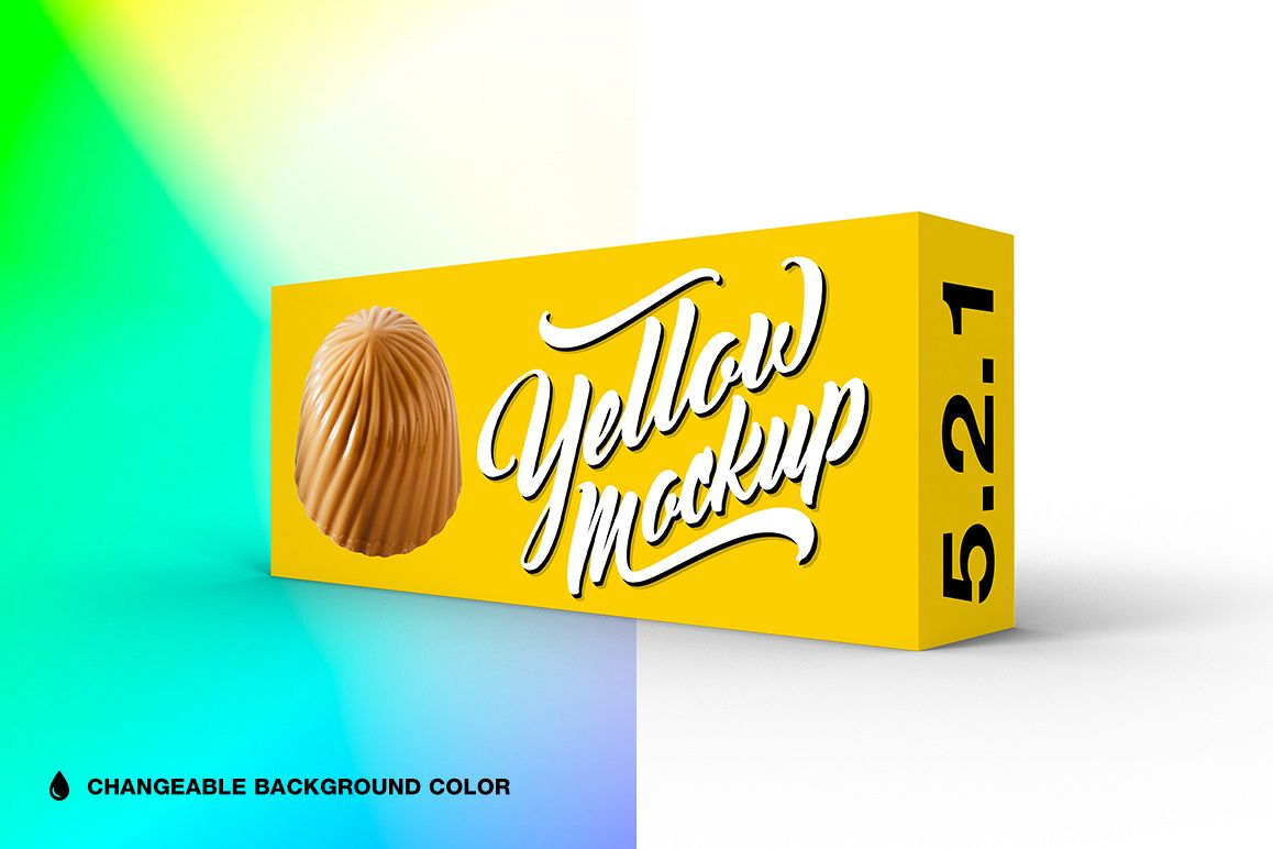5.2.1 Simple 3D Box Mockup PSD example image 1