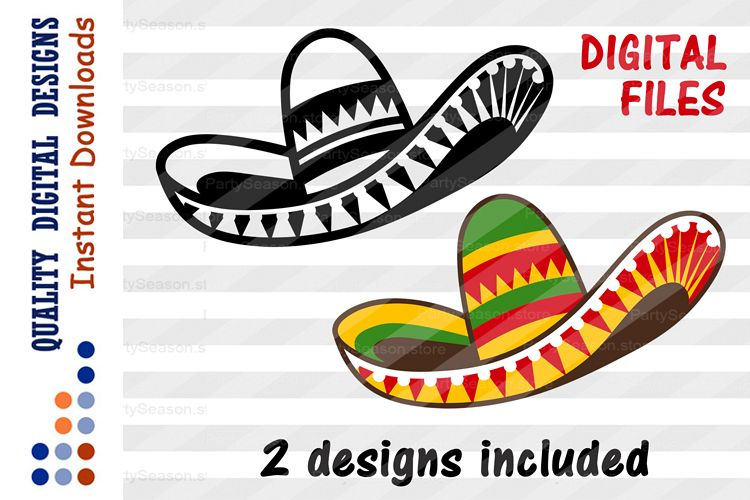 SET Sombrero clipart Cinco de mayo shirt svg design example image 1