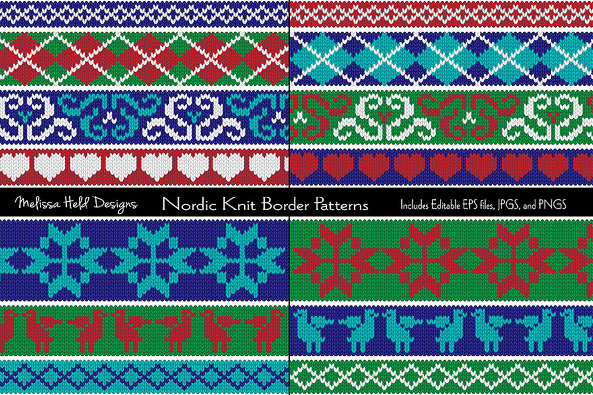 Nordic Knit Border Patterns example image 1