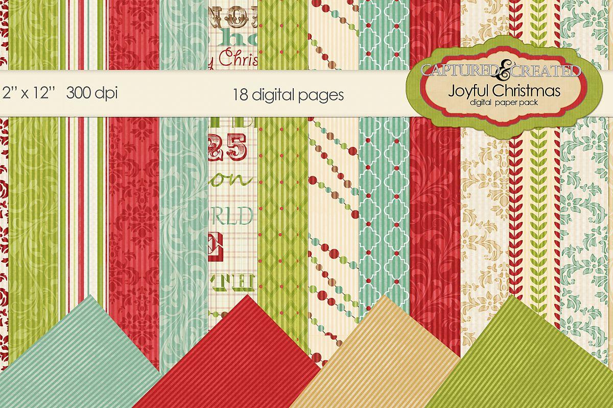 Joyful Christmas Mega Digital Paper Pack