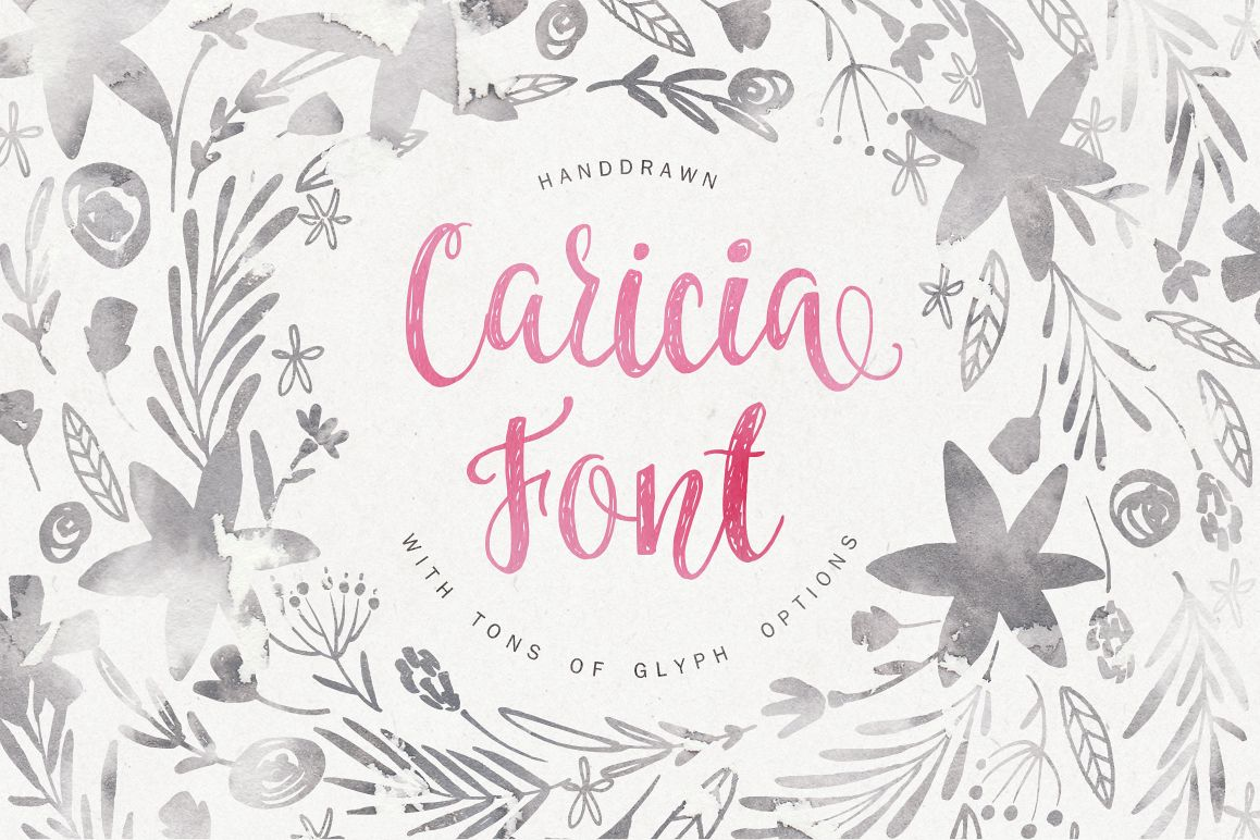 Caricia - handdrawn font example image 1