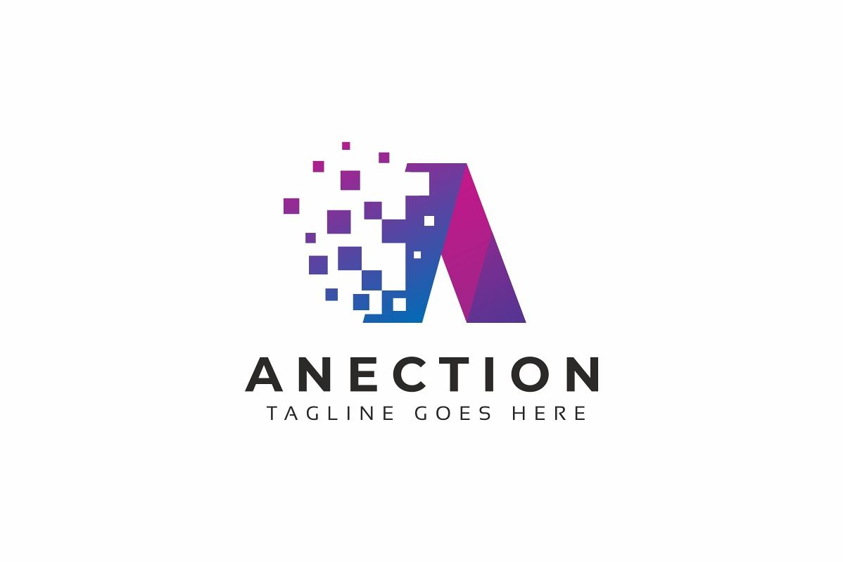 Anection A Letter Logo example image 1