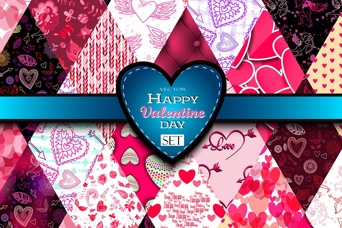 Happy Valentine's Day Set. example image 1