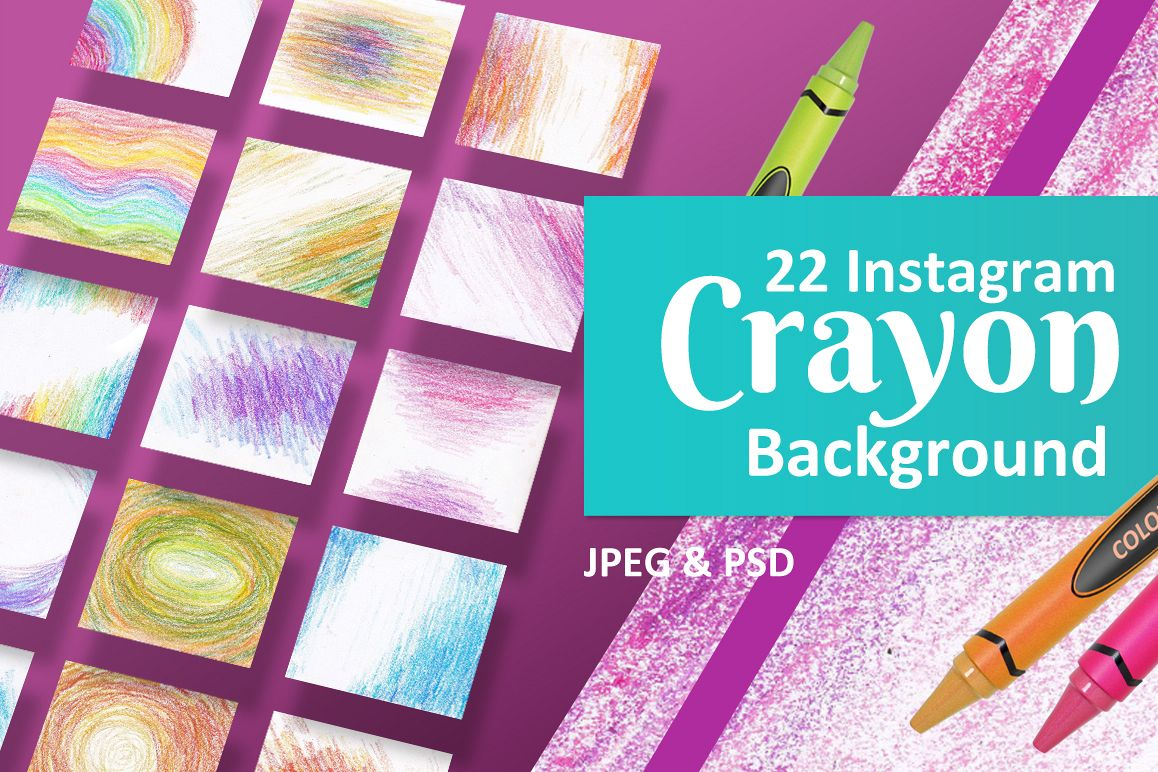 22 Instagram Crayon Backgrounds example image 1
