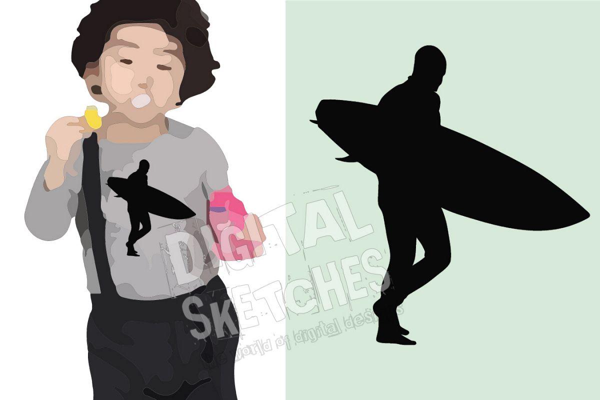 Surfing Vector Graphic, Surfer Cut File, Sport SVG