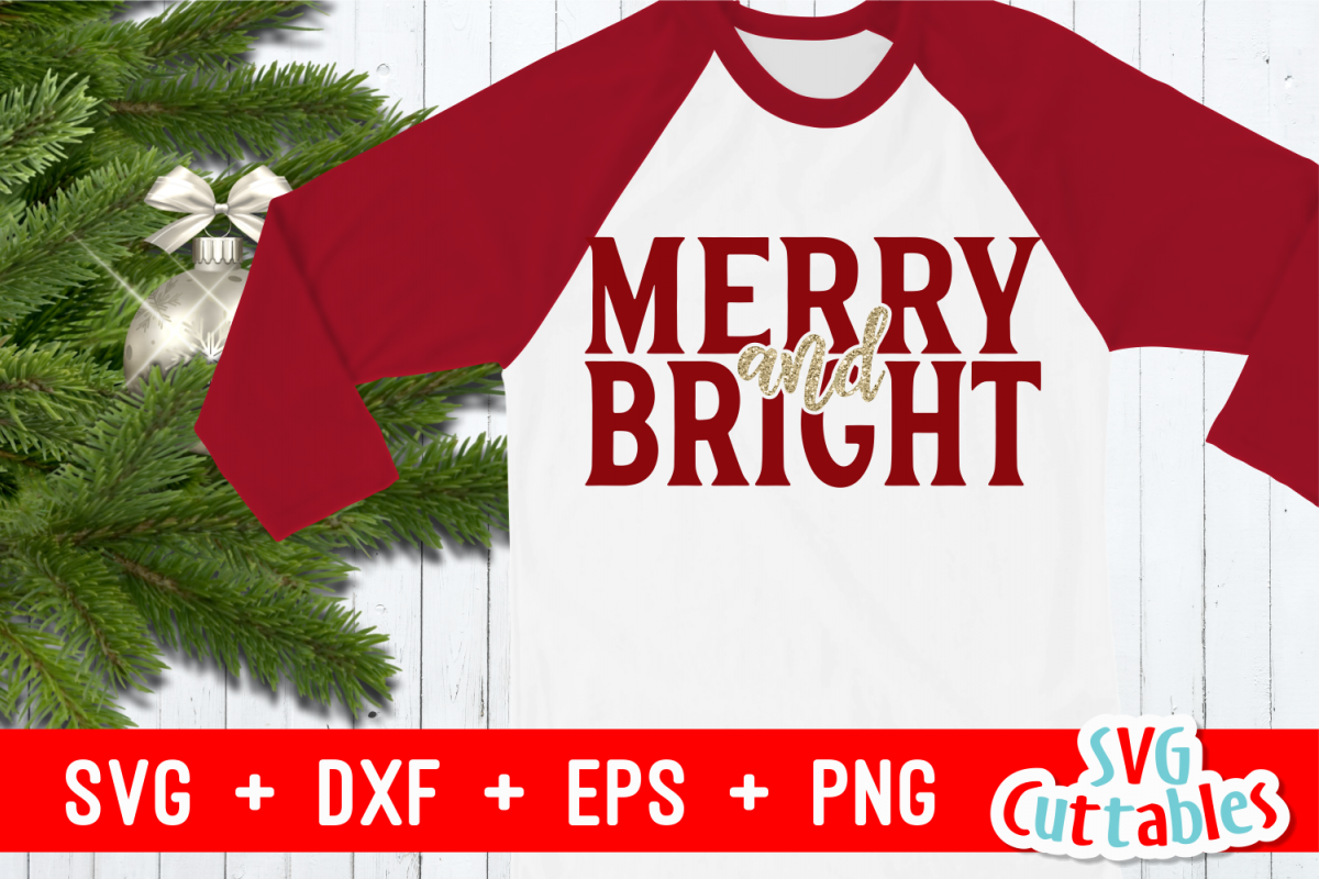 Merry and Bright | Cut File example image 1
