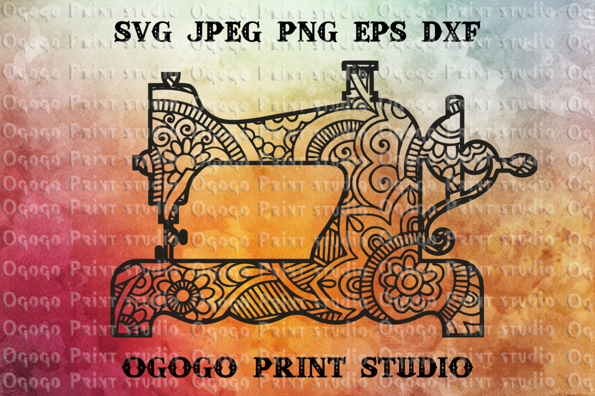 Sewing SVG, Sewing Machine SVG, Zentangle SVG, Cricut example image 1