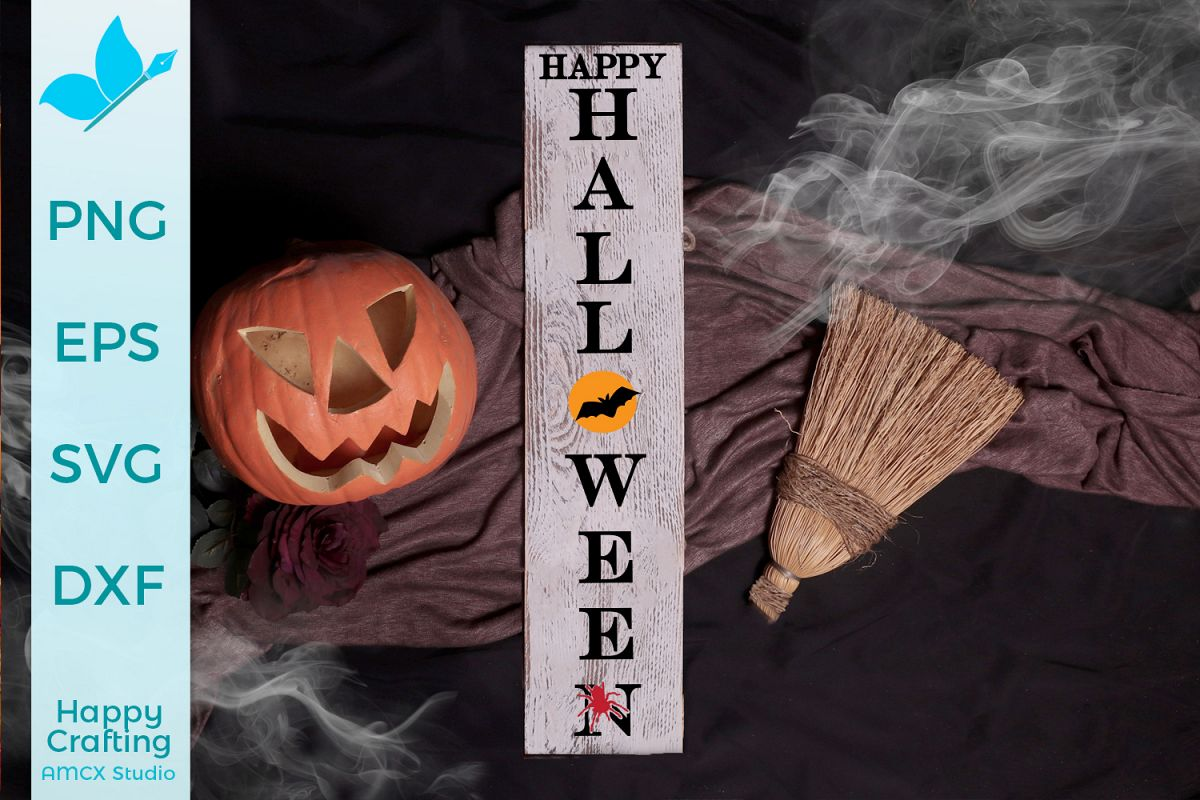 Happy Halloween - Porch Sign SVG example image 1