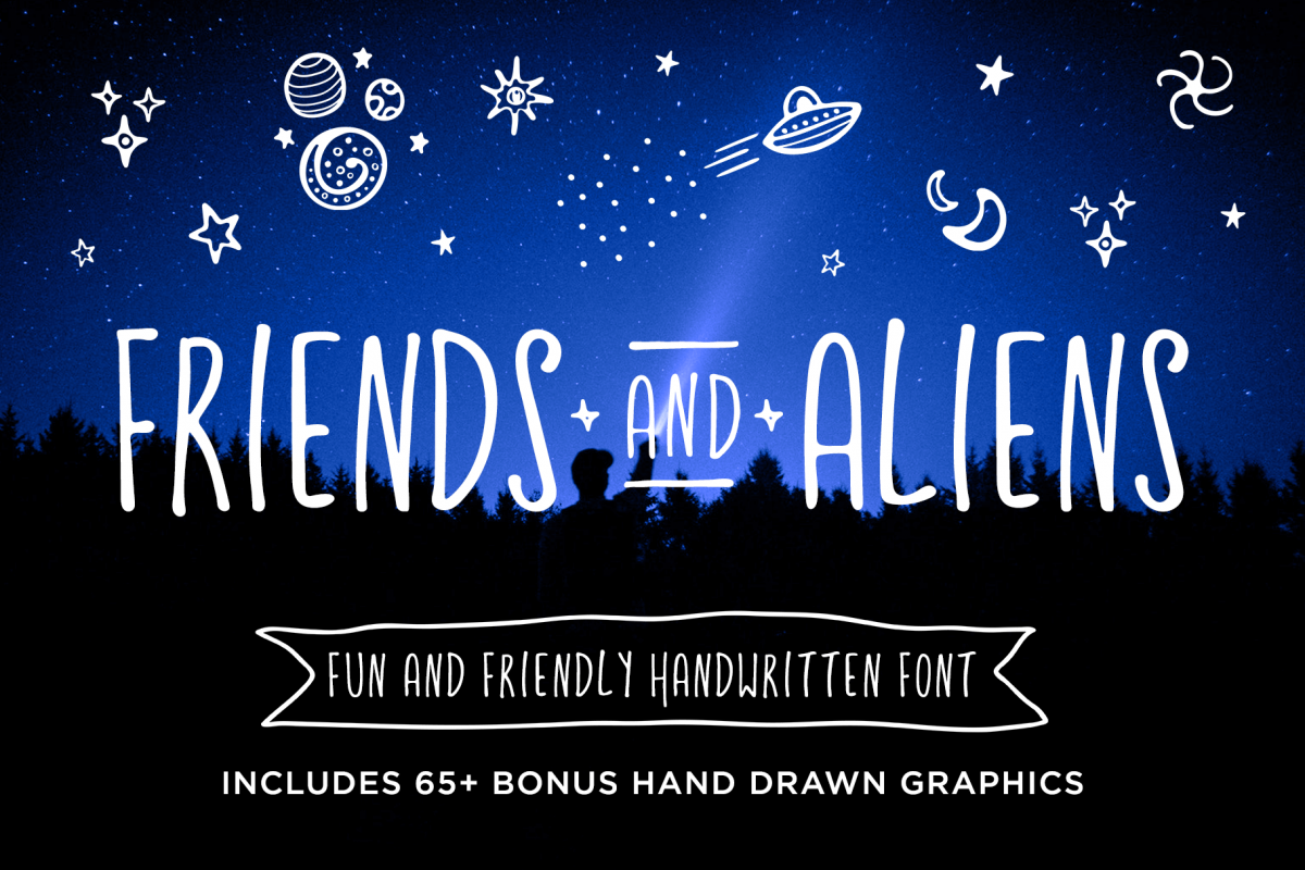 Friends & Aliens Font example image 1