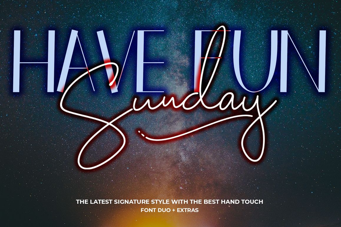 Have Fun Sunday - Font Duo example image 1
