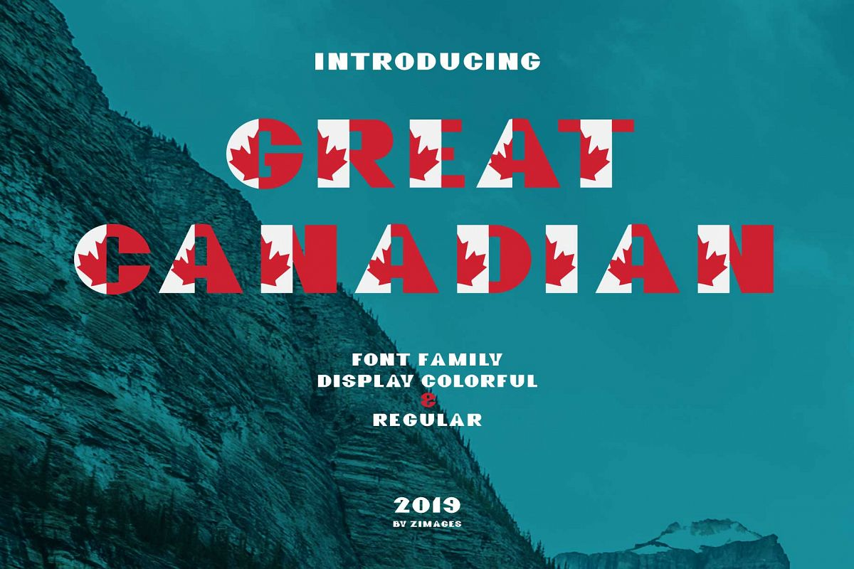 GreatCanadian-font family example image 1