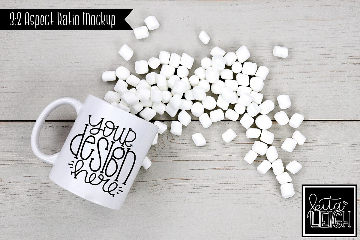 11 oz Mug Mockup with Marshmallows example image 1
