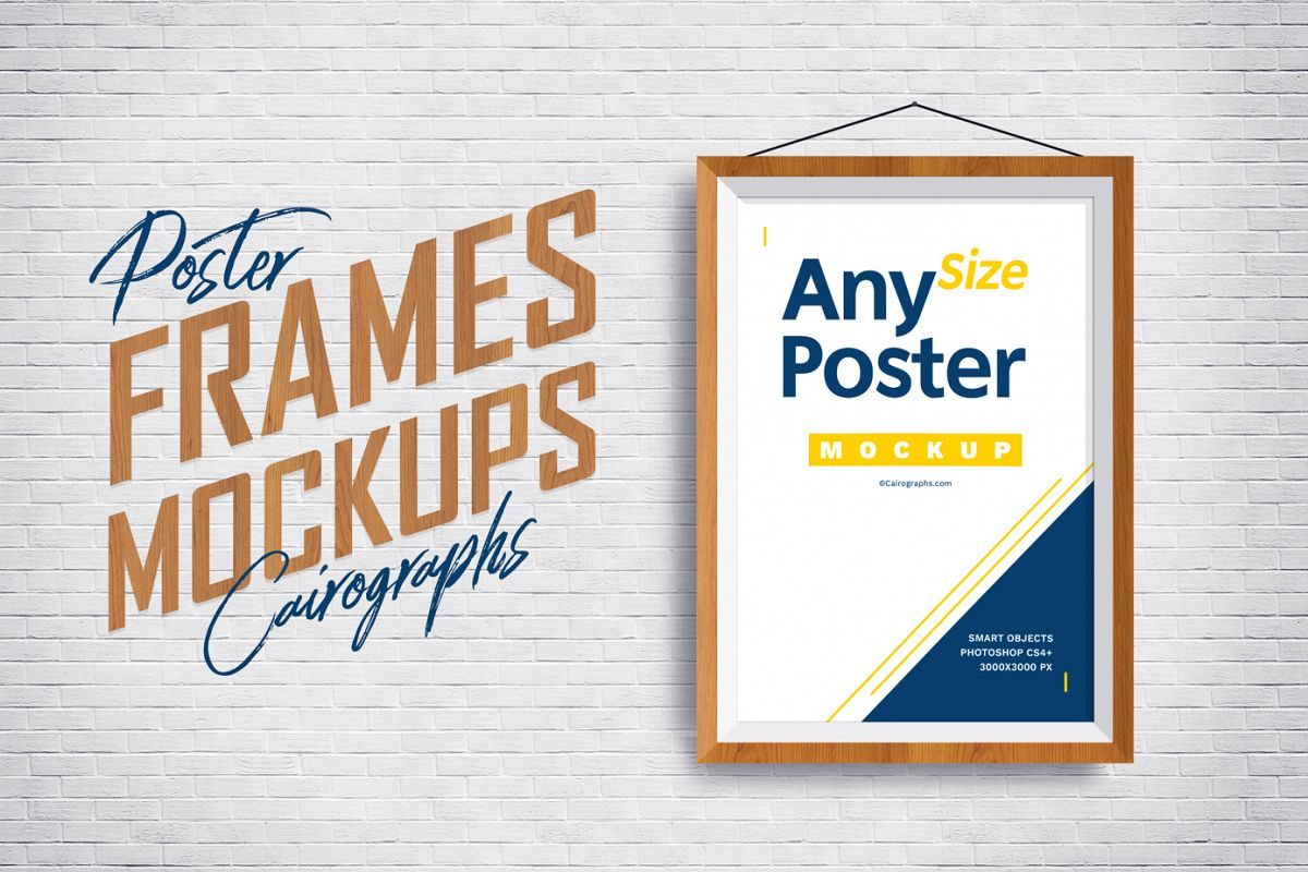 Posters Frames Mockups example image 1