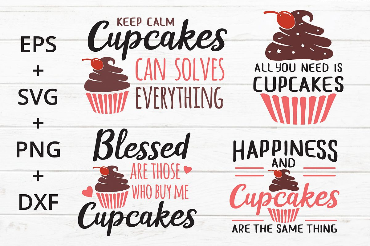 Cupcakes quotes SVG example image 1